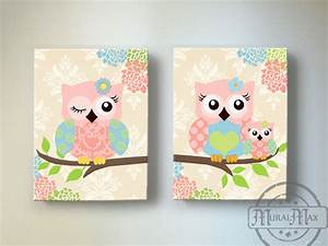 kids wall art owl nursery baby girl owl decor owl nursery With owl wall art