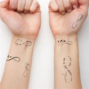 Tattoo Unendlichkeitszeichen Mit Buchstaben : infinity symbol set temporary tattoo set of 6 by tattify on etsy ~ Frokenaadalensverden.com Haus und Dekorationen