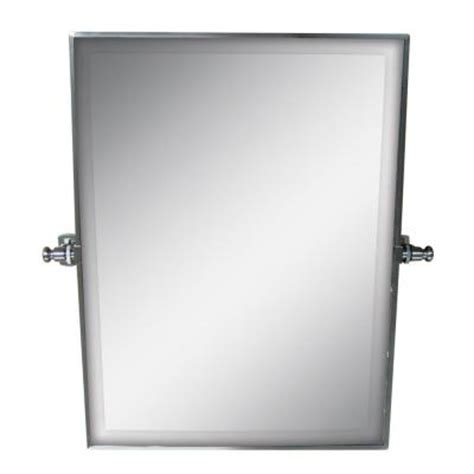 Pivot Bathroom Mirror Home Depot by Pegasus 26 In X 20 In Framed Rectangle Pivot