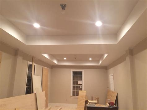 tray ceiling with simplify beige from sherwin williams