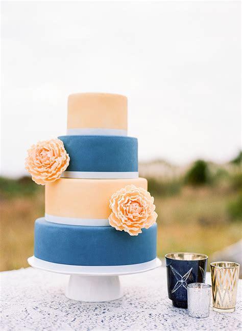 Peach And Navy Blue Charleston Inspired Wedding At Wild