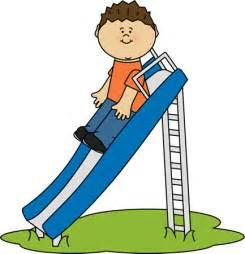 Kids Playing On Slide Clip Art