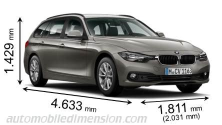 dimensions  bmw cars showing length width  height