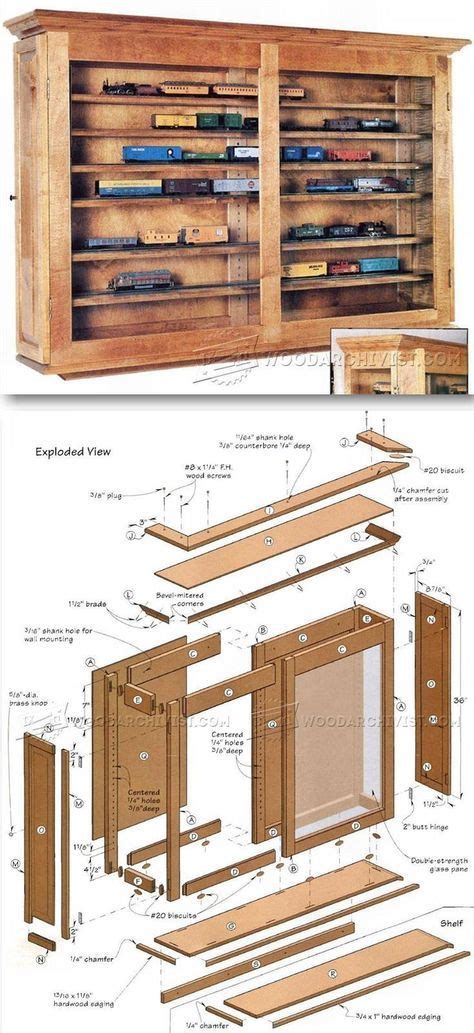 display case plans furniture plans  projects