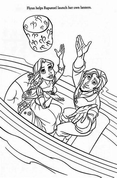 Rapunzel Flynn Boat Coloring