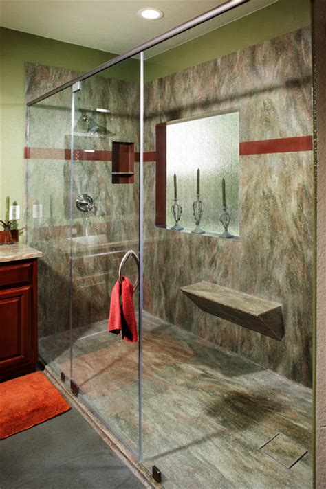 Bathroom Fixtures Sacramento by Corian Rosemary Seamless Shower By Signature Surfaces