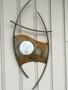 Abstract metal wall art steel sculpture indoor outdoor home