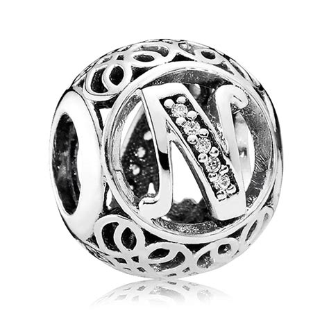 pandora letter charms pandora alphabet charm v silver 15650