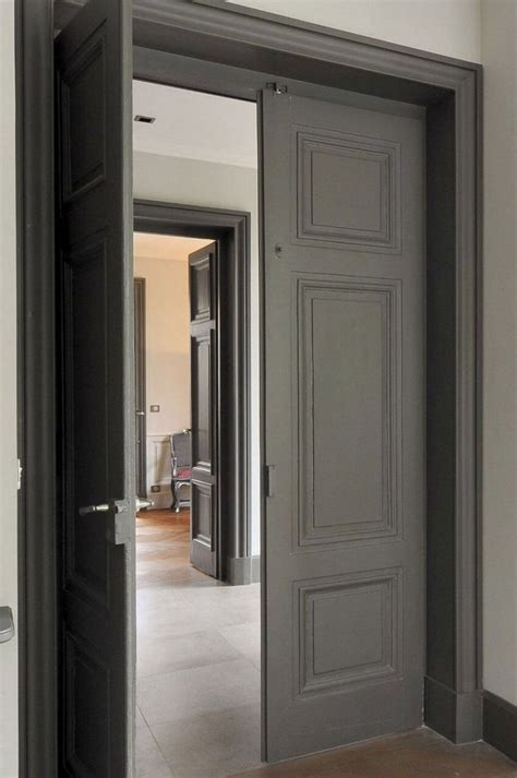 dark internal doors    frames   colour