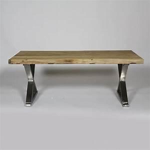 Table En Metal : table basse en orme pieds m tal en x 120x60 achat vente table basse table basse en orme ~ Teatrodelosmanantiales.com Idées de Décoration