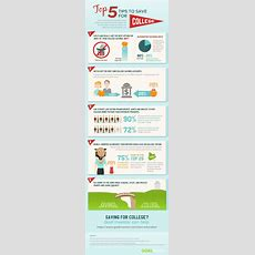 Top 5 Tips To Save For College Infographic  Elearning Infographics