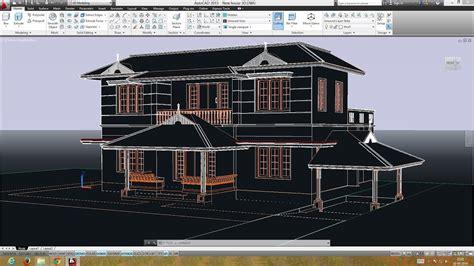 autocad double storied  house preparing  plan