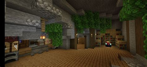 minecraft cave base   fireplace cave building