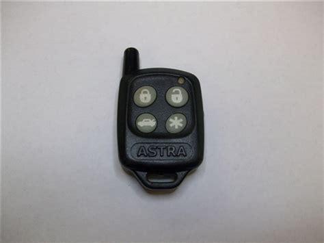 Astra Alarm Key Fob Remote Programming Instructions