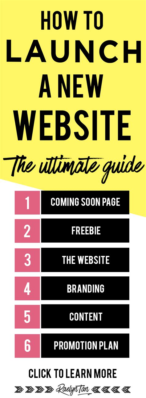 the ultimate guide how to launch a brand new website