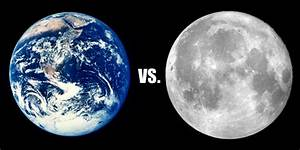 Earth vs Moon - Pics about space