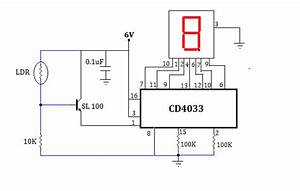 Simple Object  Visitors Counter Circuit Using Ldr