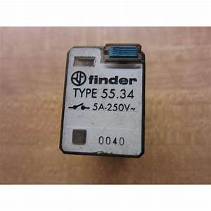 Finder 55 34 Relay 5534 5a 250v - Used
