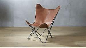 Butterfly Chair Original : 1938 tobacco leather butterfly chair cb2 ~ Frokenaadalensverden.com Haus und Dekorationen