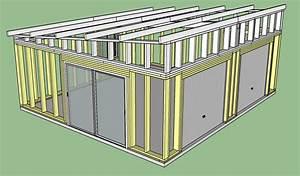 Plan De Construction : fabrication d 39 un double garage ossature bois copain des ~ Melissatoandfro.com Idées de Décoration