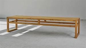 Gartenbank Ohne Lehne : einfache sitzbank sena aus massivem holz von vitamindesign ~ Watch28wear.com Haus und Dekorationen