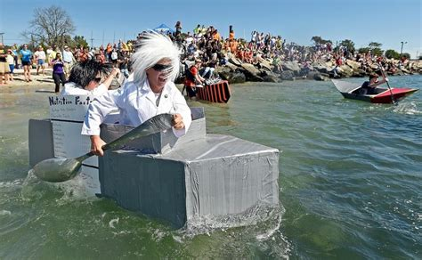 Uconn Cardboard Boat Race by The Day Cardboard Boat Races News From Southeastern
