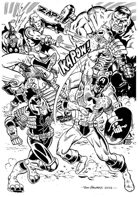 print   coloring page coloring adult avengers
