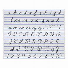 English Alphabet Diagram In Cursive Handwriting Poster Zazzle