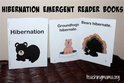 hibernation activities for preschoolers teaching 413   Hibernation Readers
