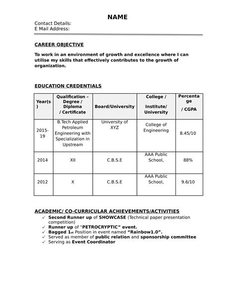 Resume formats for 2020 | 32+ Free Resume Templates For Freshers