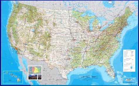 Подробная карта штатов США на русском языке с городами (политическая, физическая). Где находится ...