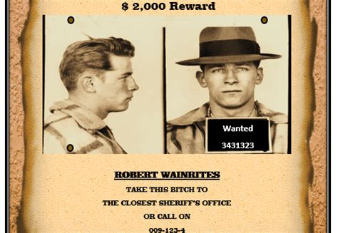 wanted poster templates printable docs