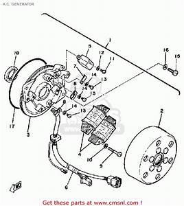 Yamaha Exciter 1 Sr250h 1981 A C  Generator