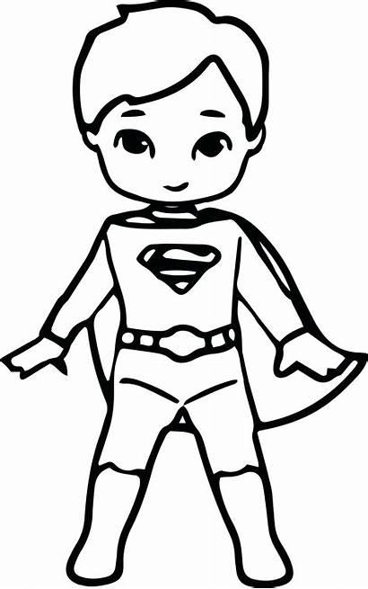 Superhero Coloring Superman Pages Cartoon Kid Drawing
