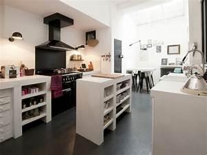 Beton Cire Deco : plan travail beton cire ilot accueil design et mobilier ~ Premium-room.com Idées de Décoration