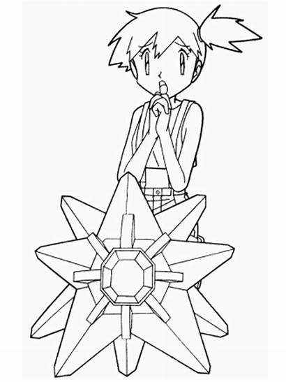 Coloring Pages Pokemon 80 Anime Team Misty