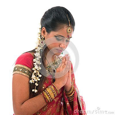 indian prayer isolated stock photo image