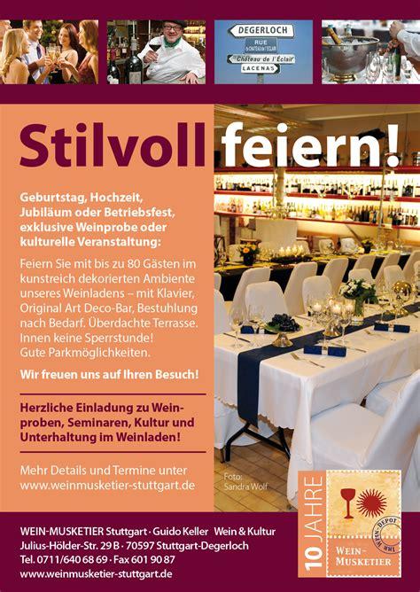 Garten Mieten Für Geburtstagsfeier Stuttgart by Weinladen Mieten Wein Musketier Stuttgart