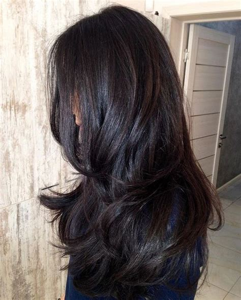 Glossy Black Hair Color by Best 25 Wine Hair Ideas On Wine Colored Hair