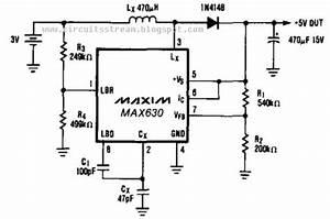 Build A 3v Battery To 5v Dc  Dc Converter Circuits Diagram