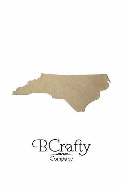 Carolina North Shape Cutout State Wooden Cutouts