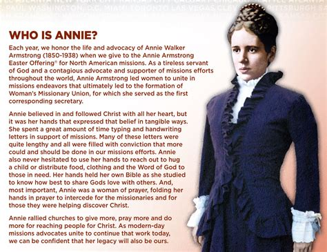 Annie Armstrong Quotes