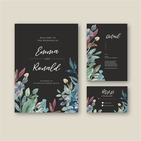 Happy Wedding card floral garden invitation card marriage