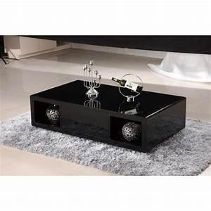 Table Basse Noir Laqué : table basse noire laquee n15 ~ Teatrodelosmanantiales.com Idées de Décoration