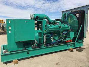 750 Kw Cummins Onan Generator  12 Lead Reconnectable  480 Volt  Cummins Engine