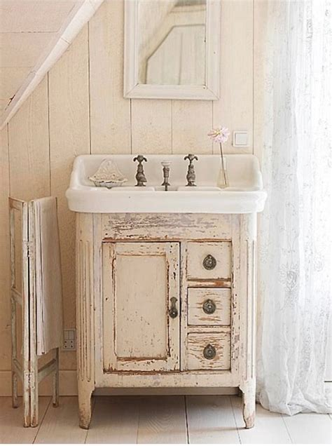 shabby chic white bathroom vanity resorgentia