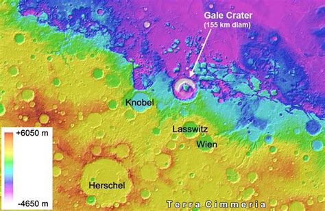 pia bureau space images gale crater is low on mars