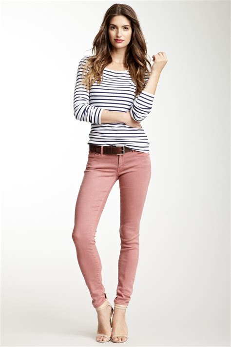 Stripes and ...old rose ++ | feminine style is a good thing in 2018 | Pinterest | Jeans Outfits ...