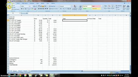 estimating  excel   small contractor youtube