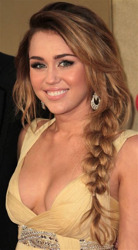 miley cyrus braided hairstyle sexy long hairstyle with